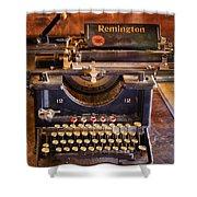 Vintage Remington Typewriter  Shower Curtain