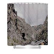 Vintage Rio Grande Royal Gorge By Lynn Bramkamp Shower Curtain