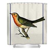 Vintage Robin Vertical Shower Curtain