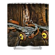 Vintage Roller Skates 3 Shower Curtain