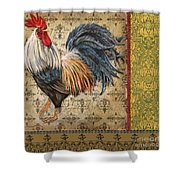 Vintage Rooster-c Shower Curtain