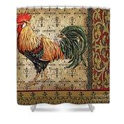 Vintage Rooster-d Shower Curtain