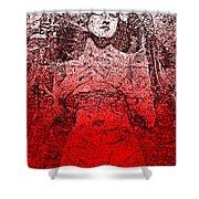 Vintage Ruby Portrait Shower Curtain