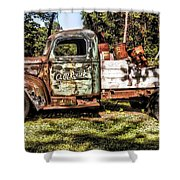 Vintage Rusty Old Truck 1940 Shower Curtain