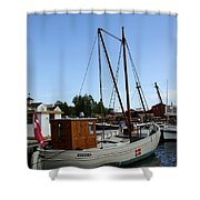 Vintage Sailing Boat - Ct Shower Curtain