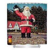 Vintage Santa Claus Christmas Card Shower Curtain by Edward Fielding