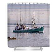 Vintage Sardine Carrier Michael Eileen Shower Curtain