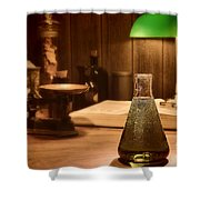 Vintage Science Laboratory Shower Curtain
