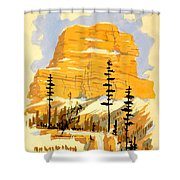 Vintage See America Travel Poster Shower Curtain