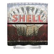 Vintage Shell Oil Rail Tanker Car Shower Curtain