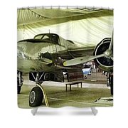 Vintage Silver Bomber Airplane Shower Curtain