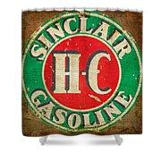 Vintage Sinclair Gasoline Sign Shower Curtain