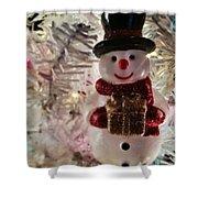 Vintage Snowman Shower Curtain
