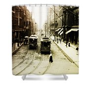 Vintage St Charles Street - New Orleans Shower Curtain