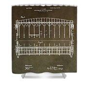 Vintage Starting Gate Patent Shower Curtain