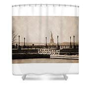 Vintage Statue Of Liberty View Shower Curtain