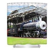 Vintage Steam Locomotive 5d29281 V2 Shower Curtain