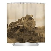 Vintage Steam Locomotive Shower Curtain