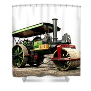 Vintage Steam Roller Shower Curtain