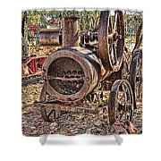 Vintage Steam Tractor Shower Curtain by Douglas Barnard