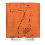 Vintage Stecher Gold Club Patent - 1960 Shower Curtain