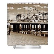 Vintage Steel Pier Shower Curtain