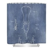 Vintage Stethoscope Patent Shower Curtain