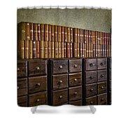 Vintage Storage Shower Curtain