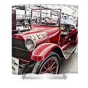 Vintage Studebaker Fire Engine Shower Curtain