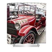Vintage Studebaker Fire Engine Shower Curtain by Douglas Barnard