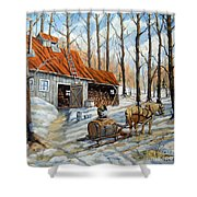 Vintage Sugar Shack By Prankearts Shower Curtain