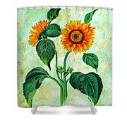 Vintage Sunflowers Shower Curtain