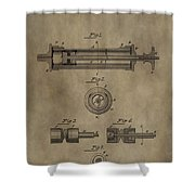 Vintage Syringe Patent Drawing Shower Curtain