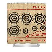 Vintage Target Card Shower Curtain