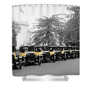 Vintage Taxis 3 Shower Curtain