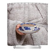 Vintage Teacup Shower Curtain