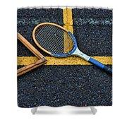 Vintage Tennis Shower Curtain by Paul Ward