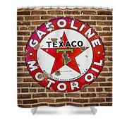 Vintage Texaco Gasoline Sign Dsc07195 Shower Curtain