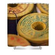 Vintage Thread Shower Curtain