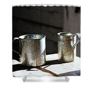 Vintage Tin Cups Shower Curtain