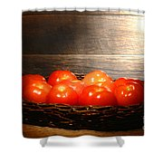 Vintage Tomatoes Shower Curtain