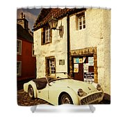 Vintage Touch. Culross Sketches. Scotland Shower Curtain