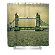 Vintage Tower Bridge Shower Curtain
