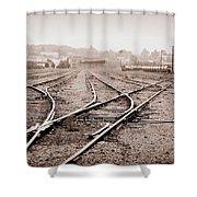 Vintage Tracks Shower Curtain