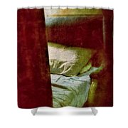 Vintage Train Bed Shower Curtain