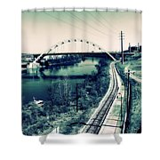 Vintage Train Tracks In Nashville Shower Curtain
