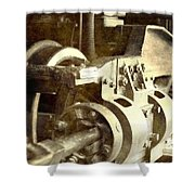 Vintage Train Wheel Shower Curtain