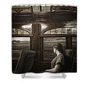 Vintage Travels Shower Curtain