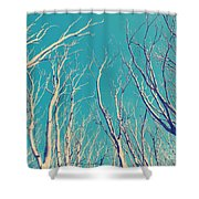 Vintage Trees Shower Curtain