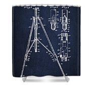 Vintage Tripod Patent Drawing From 1941 Shower Curtain